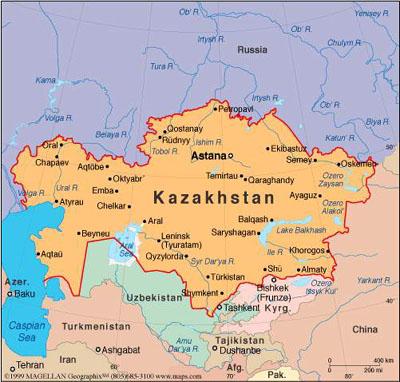 Maps of Kazakhstan – Madderlane